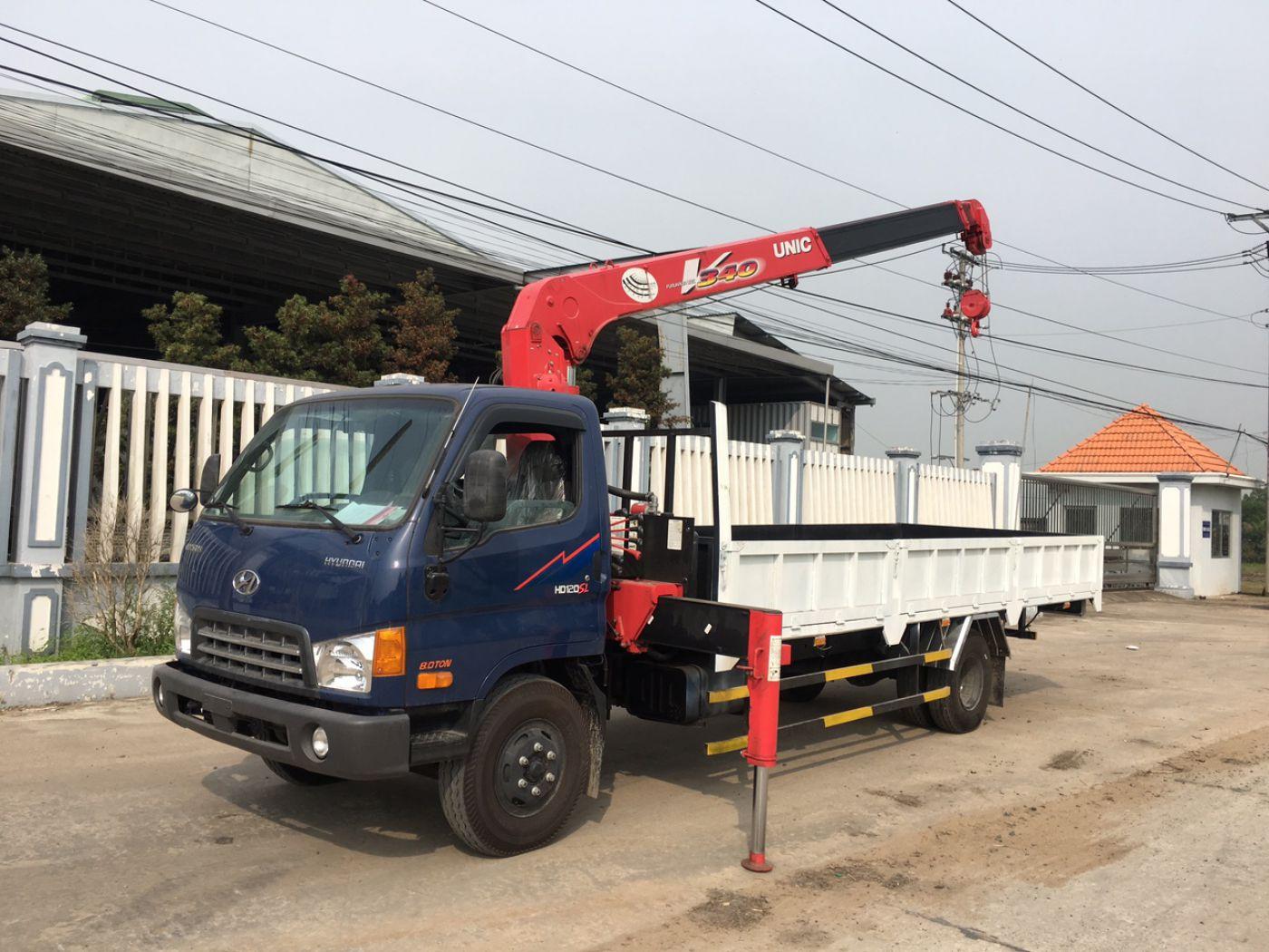 Xe cẩu Hyundai New Mighty 110XL,8 tấn thùng dài 6m khi gắn cẩu