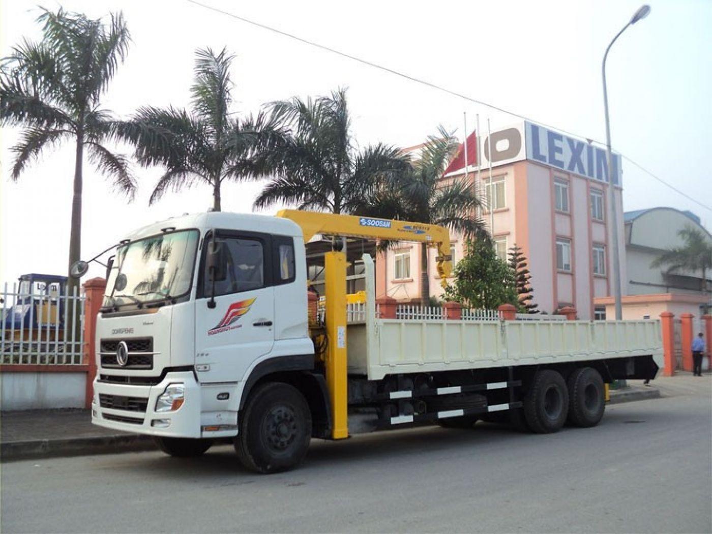 Xe tải cẩu Dongfeng 10 tấn