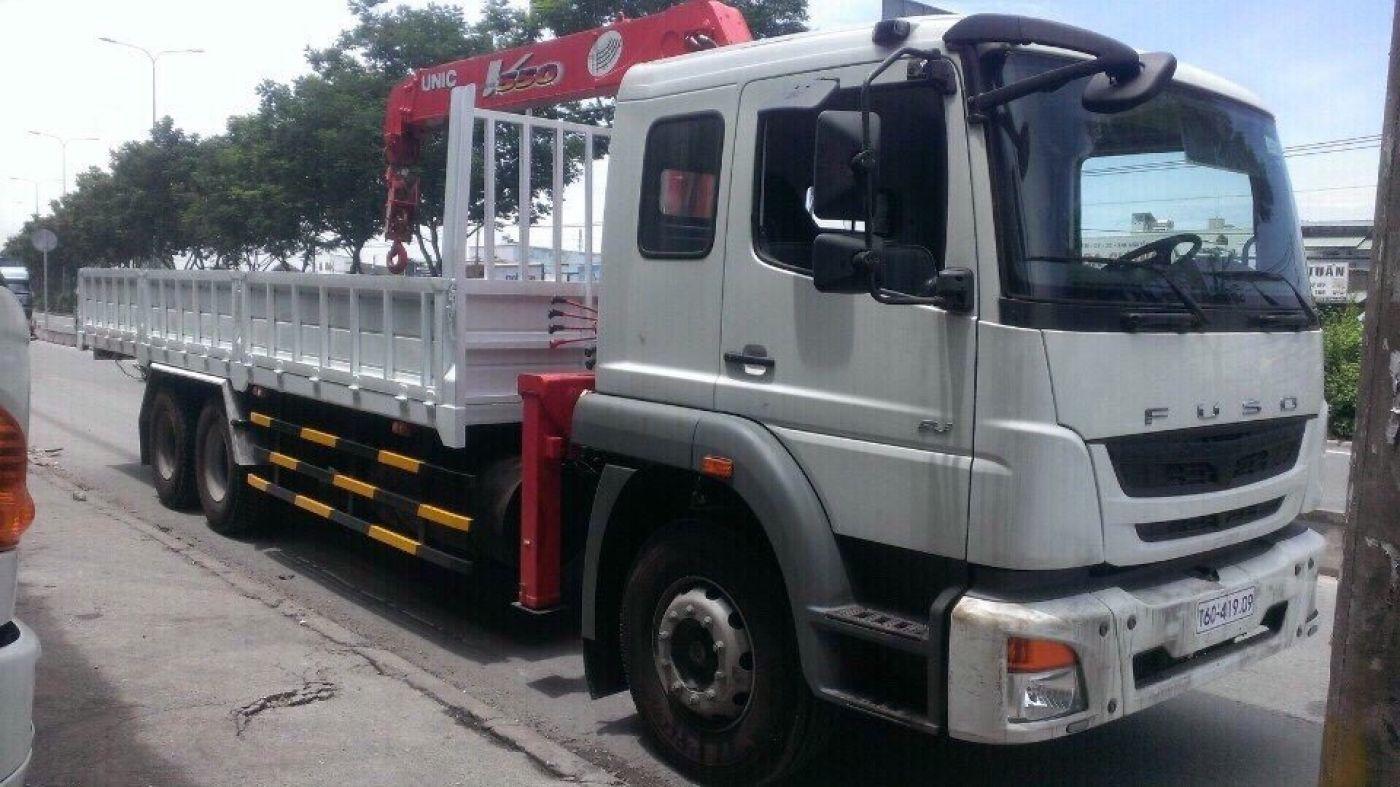 Xe tải cẩu Fuso 12 tấn