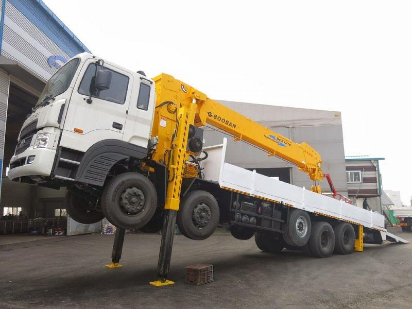 Xe cẩu tự hành Hyundai HD360 tải trọng 18 tấn