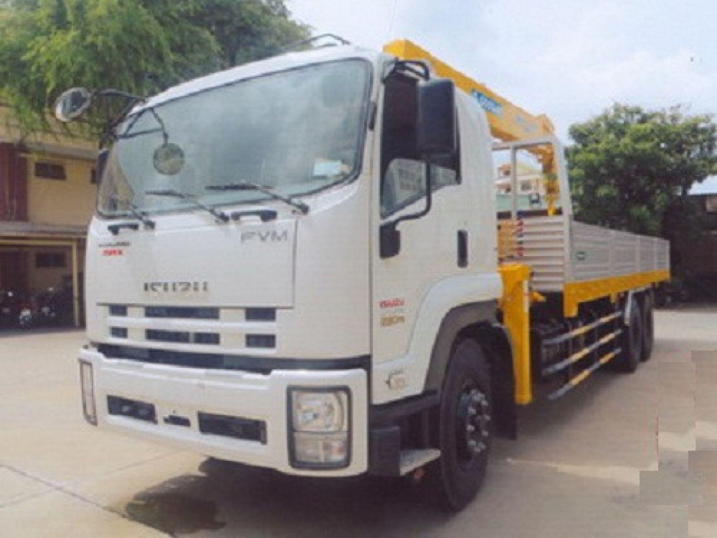 Xe tải cẩu Isuzu 13 tấn
