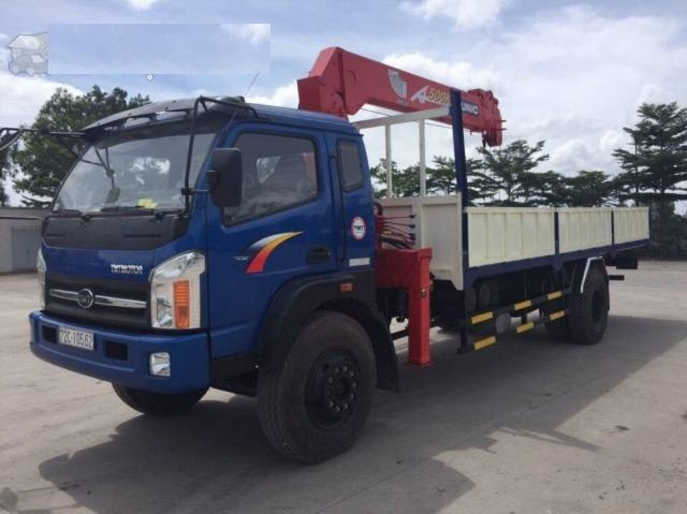 Xe tải cẩu TMT Cửu Long 4.8 tấn