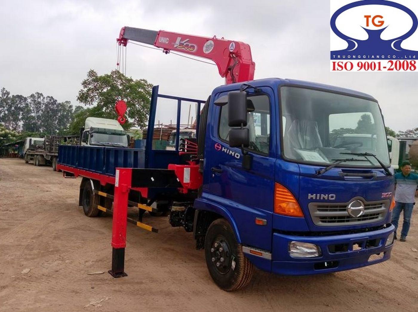 Xe tải Hino FG8 JPSN tải trọng 8.2 tấn gắn cẩu